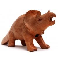 Dino-Sounds™ - Handmade Hand Carved Dinasaurs - Handmade Hand Carved Dinosaurs - Triceratops