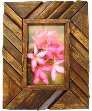 Handmade Teak Wooden Picture Frame - Angle Art Design