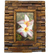 Handmade Teak Wooden Picture Frame - The Brick Design