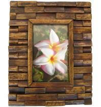 Handmade Teak Wooden Picture Frame - The Brick Design