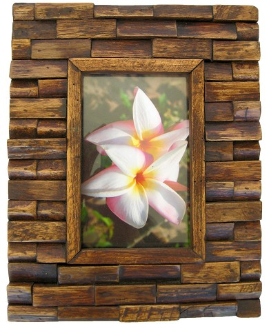 handmade teak wooden picture frame the brick design