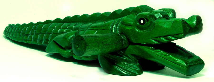 Handmade Wooden Alligator - Crocodile