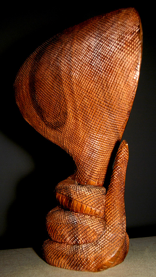 Handmade / Carved Wooden King Cobra Snake Art