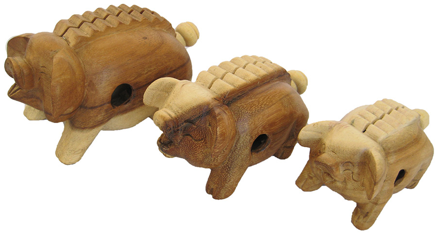 A Lost Art's Herd Handcarved Wooden Farm Animals