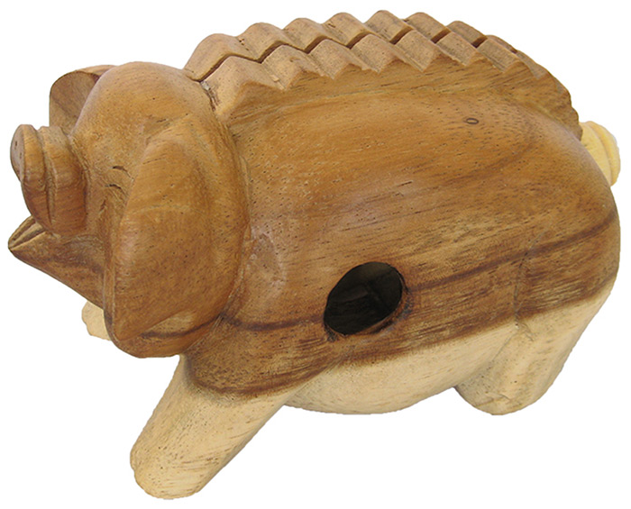 4-inch Oinking Pig - Handcarved Wooden Farm Animals